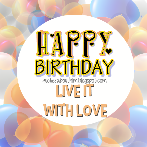 E card: Happy Birthday with Love