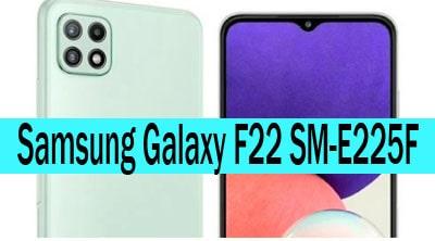 Samsung Galaxy F22 SM-E225F Stock Rom