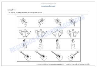 Atividade para crianças achar figura diferente direção imprimir pdf
