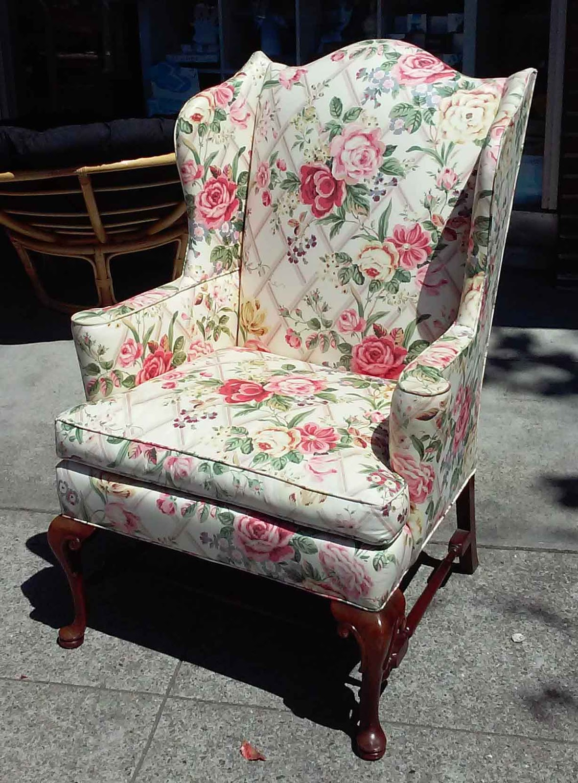 Uhuru Furniture Amp Collectibles Sold Floral Wingback Chair