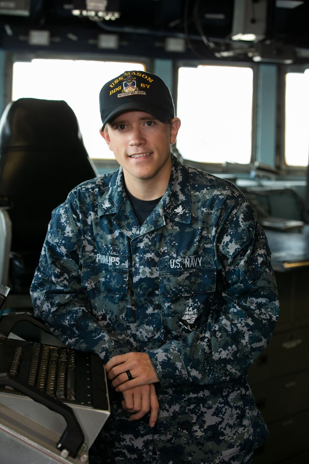 Navy Petty Officer 3rd Class Tyler Phillips is an operations specialist  aboard the warship, based in Norfolk, Virginia. USS Mason is named after  Secretary ...