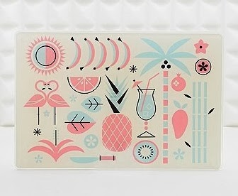 tropical chopping board urban outfitters