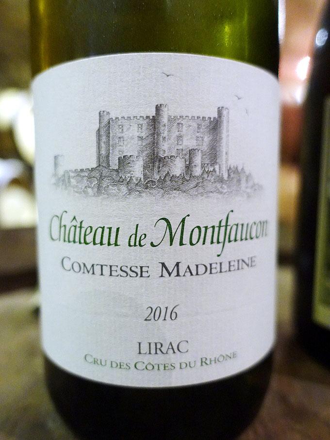 Château de Montfaucon Comtesse Madeleine Lirac Blanc 2016 (89 pts)