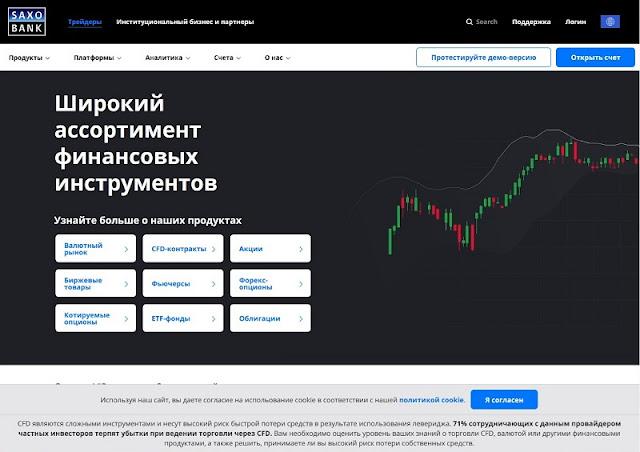 Сайт SaxoBank