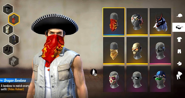 Klaim Masker Merah Redlip Bandana Guild Race Free Fire