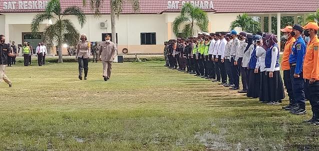 Apel Gelar Pasukan Ops Ketupat 2021, Bupati Edy Pratowo Sampaikan Amanat Kapolri