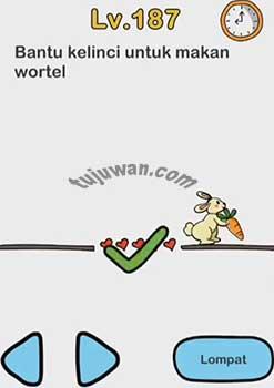 Jawaban Bantu Kelinci Makan Wortel Brain Out Level 187