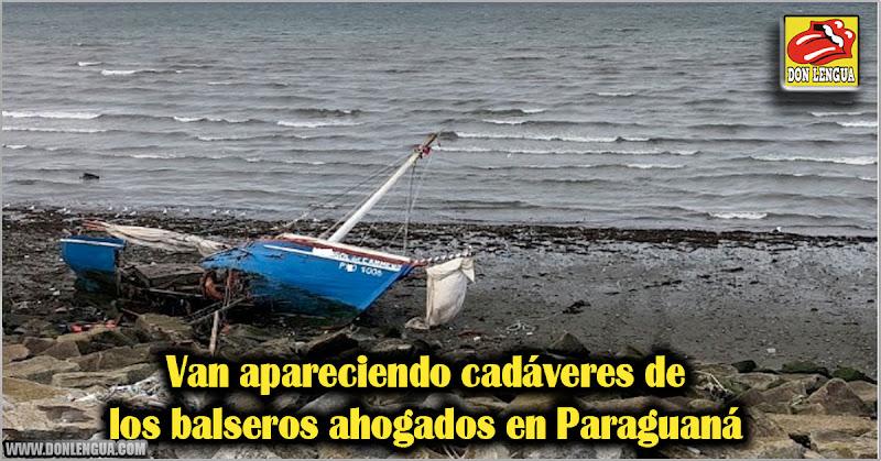 Van apareciendo cadáveres de los balseros ahogados en Paraguaná