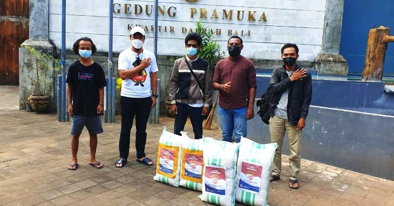 Bantu Warga Terdampak Covid-19, Polda Bali dan Kelompok Mahasiswa Bangun Sinergi