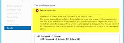 Offline Install .NET Framework 3.5 On Windows Server 2012 R2