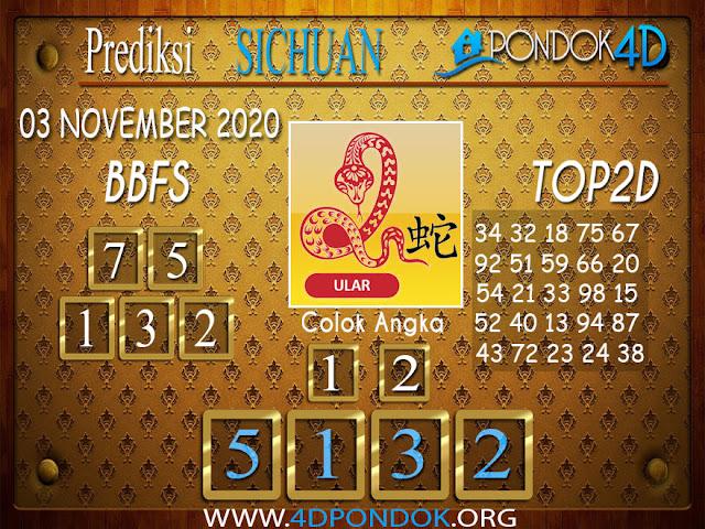 Prediksi Togel SICHUAN PONDOK4D 03 NOVEMBER 2020