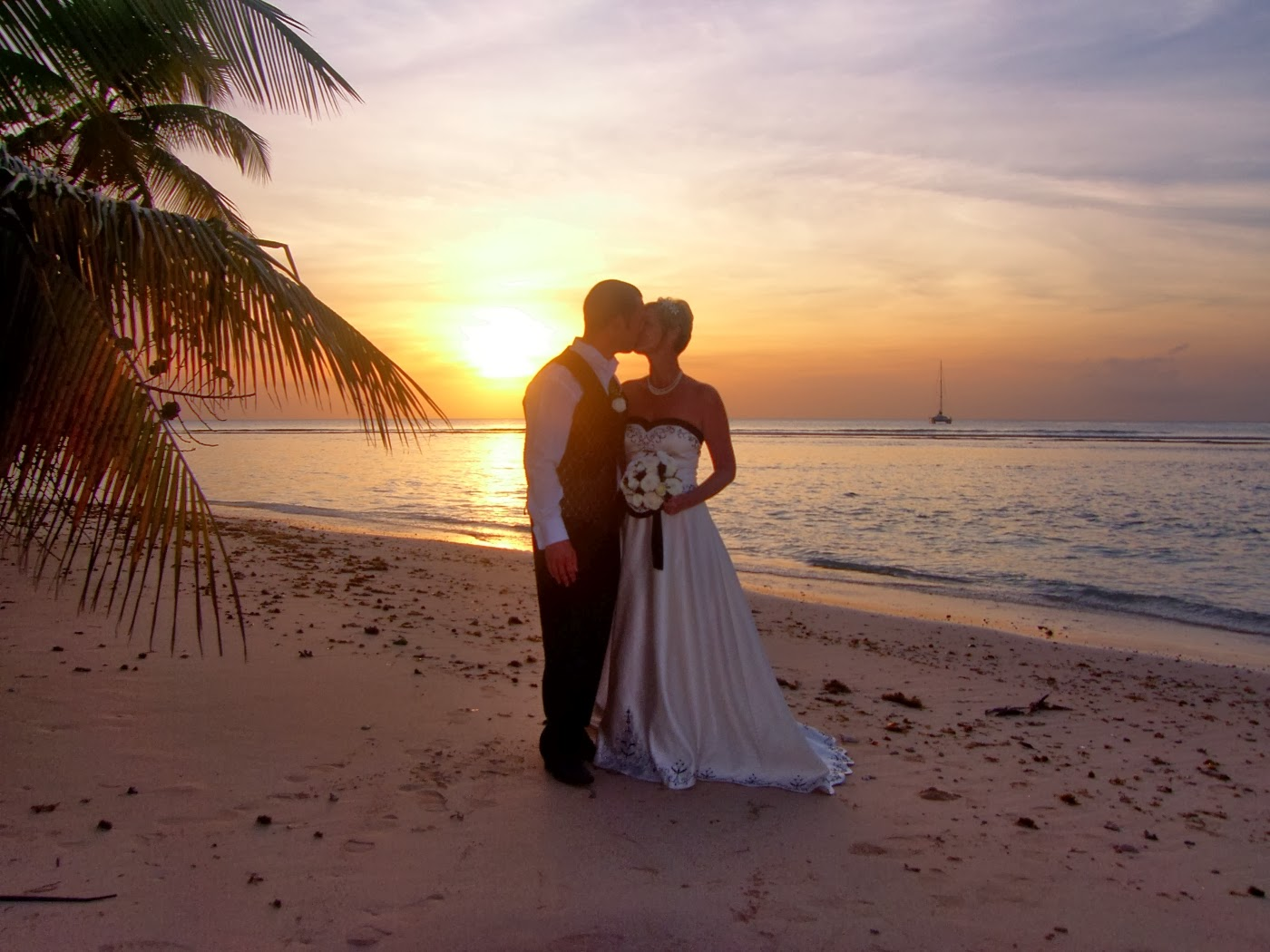 Beach Sunset Wedding At Pigeon Point Tobago
