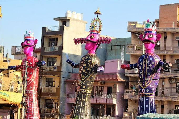 Dussehra festival in hindi - विजय दशमी, रावण दहन और रावण का पुतला कैसे बनाते है