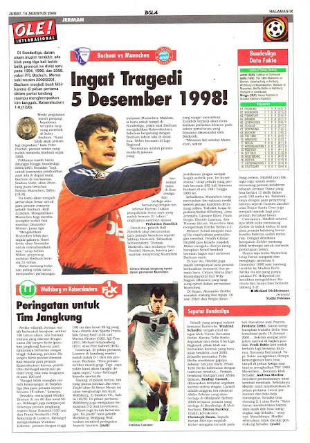 BOCHUM VS MUENCHEN INGAT TRAGEDI 5 DESEMBER 1998