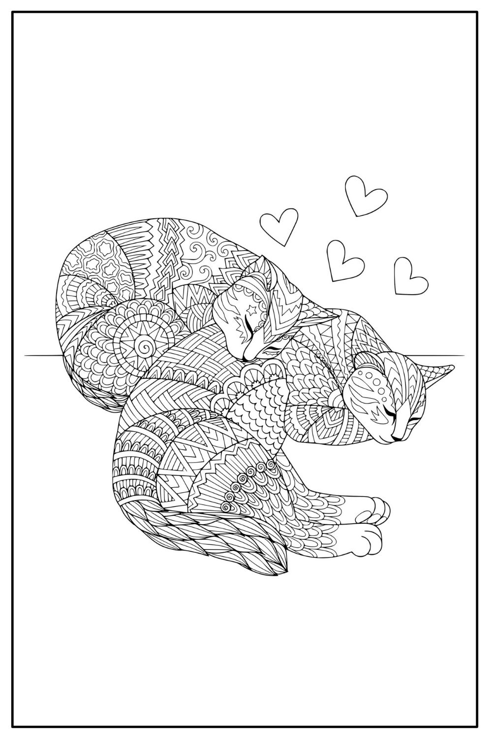 Download Wallpaper Coloriage chat adulte