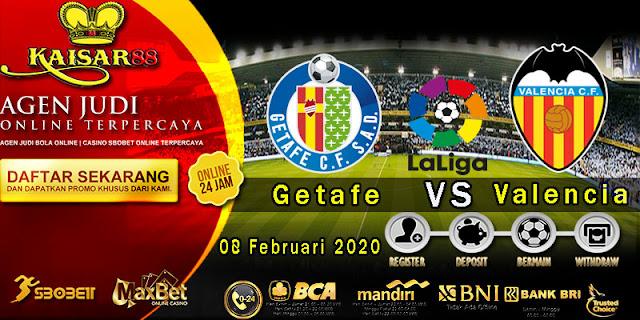 Prediksi Bola Terpercaya Liga Spanyol Getafe vs Valencia 8 Februari 2020
