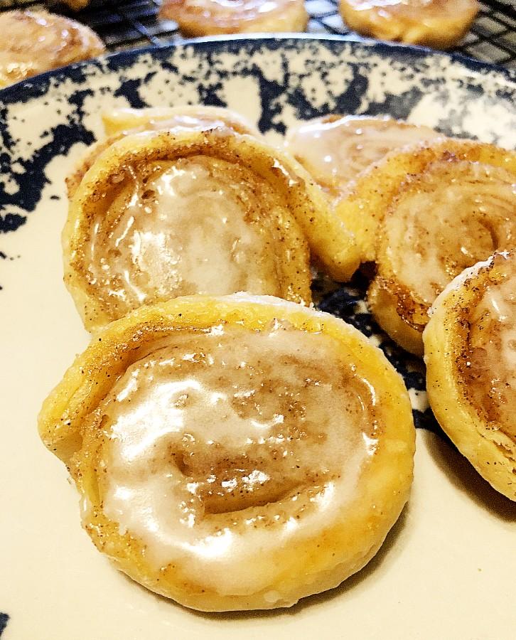 Cinnamon Roll Pinwheel Cookies on plate