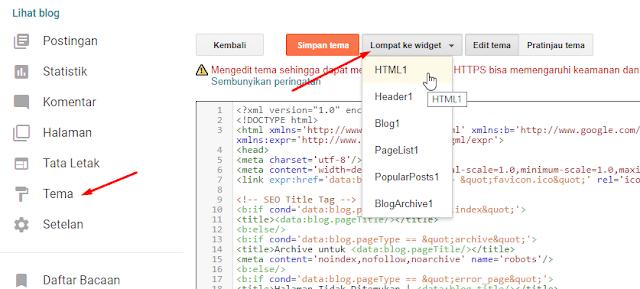 Cara Mudah Mengetahui ID Widget di Blogger