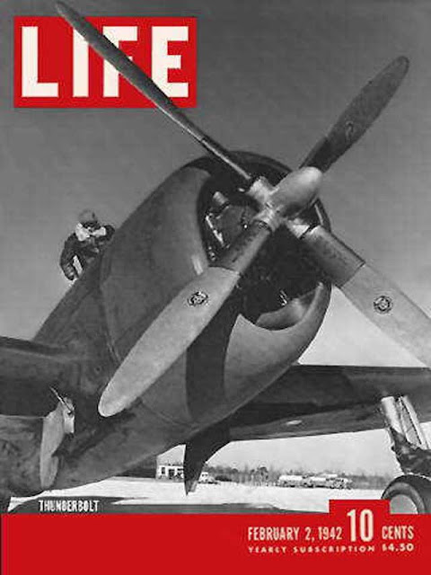 A P-47 on the cover of Life magazine on 2 February 1942 worldwartwo.filminspector.com