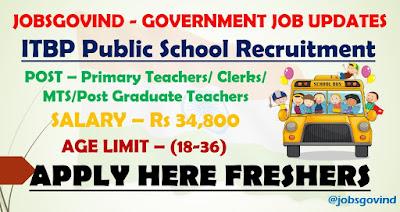 ITBP Public School Recruitment 2021