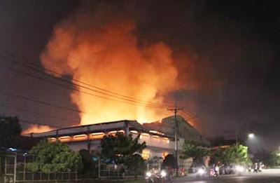 Cháy lớn ở xưởng điều tại Bình Phước, làm thiệt hại đến hơn triệu đồng