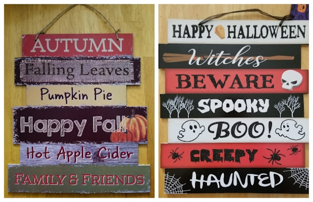 Dollar Tree Autumn Halloween Sign