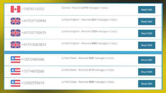 موقع freeonlinephone للحصول على ارقام مجانية لاستقبال الرسائل و تفعيل الحسابات