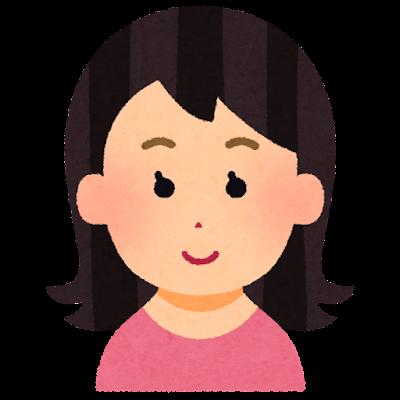外ハネの髪型のイラスト(女性)