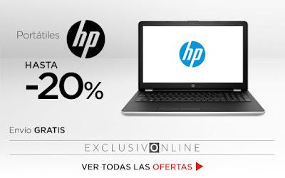 Mejores ofertas Hasta -20% en portátiles HP de El Corte Inglés