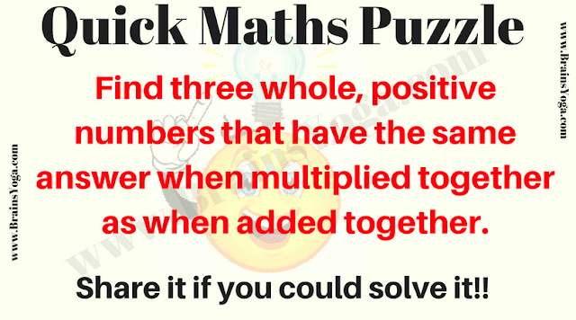Quick Math Puzzle for kids