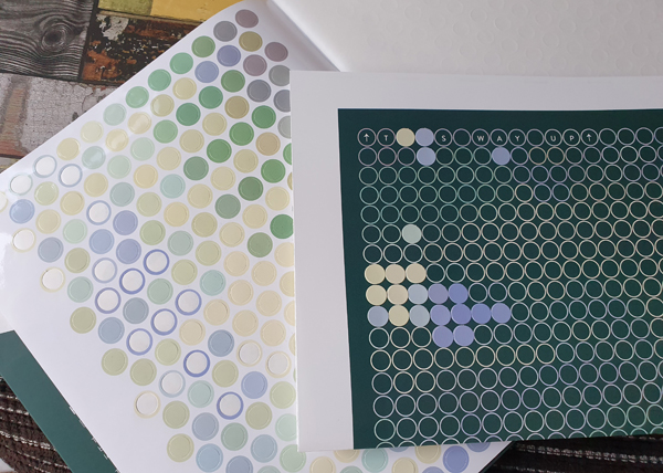 Filling in the dots with Dot Art Sticker Books