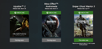 כל התאריכים שהודלפו, נחשפו וגם נשמרו לאחרונה - Mass Effect Andromeda ,Injustice 2 ועוד
