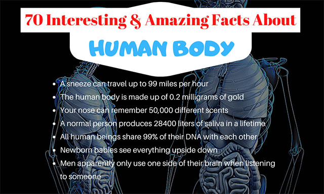 70 Amazing Facts About The Human Body