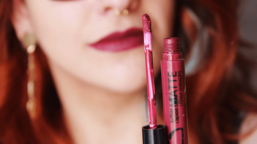 Resenha batom líquido matte da Vult, cor 08, matte lipstick, liquid lipstick, batom roxo vinho