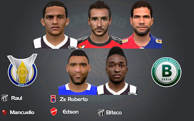 PES 2016 Facepack Brasileirão A & B by Tarcisio Facemaker