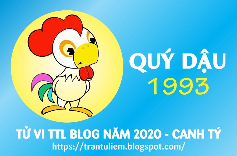 TỬ VI TUỔI QUÝ DậU 1993 NĂM 2020