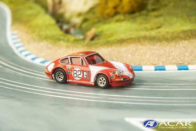 Porsche 911S Kremer Racing als Modell in h0 für die Rennbahn