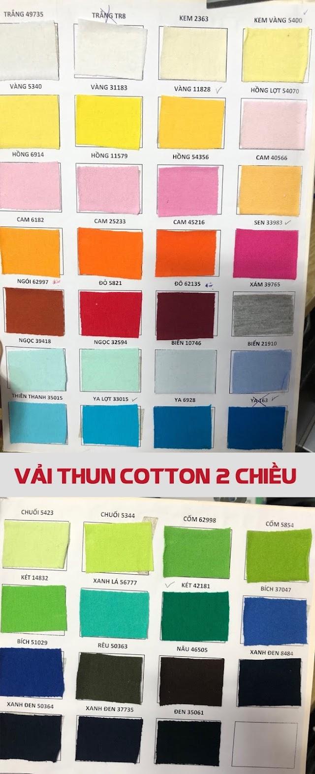 Vải thun may áo thun Unisex