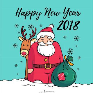 تهنئة بابا نويل راس السنة 2018