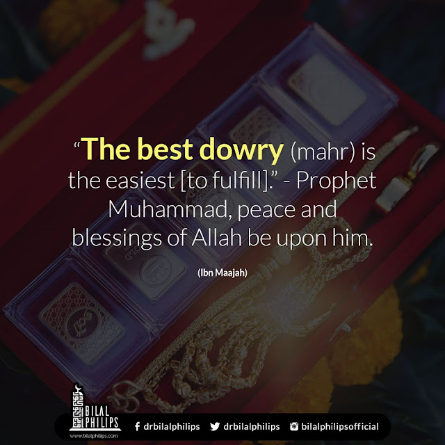 The best dowry (mahr) is the easiest to fulfill| Islamic Marriage Quotes by Ummat-e-Nabi.com