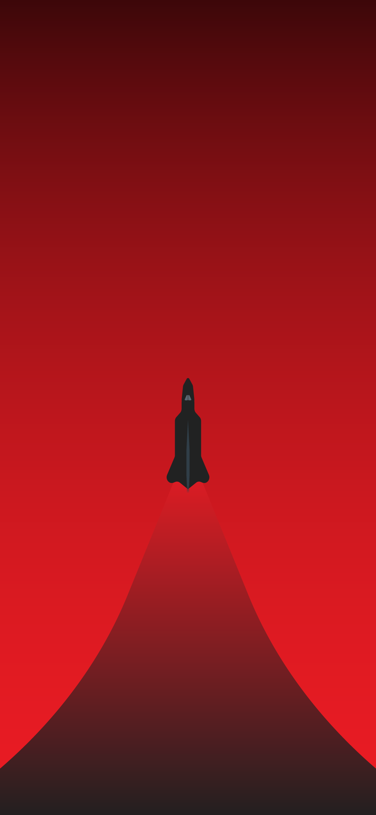 red minimalistic rocket