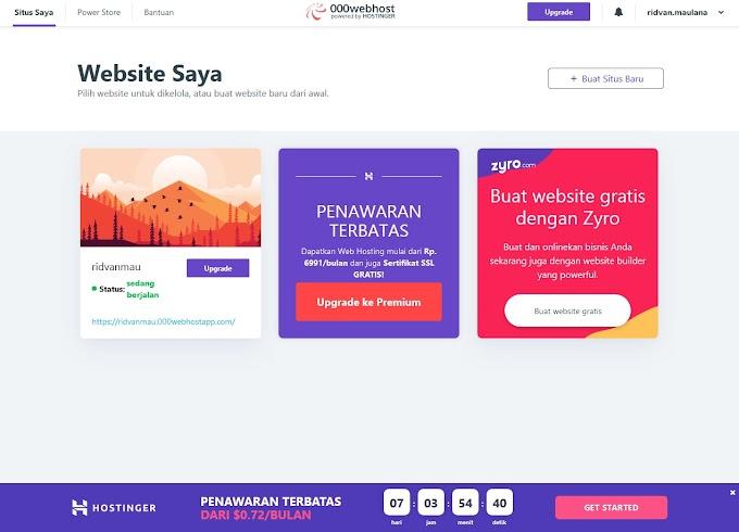 Tampilan Si Legenda Hosting Gratisan 000webhost Menarik Juga Sekarang (Review)