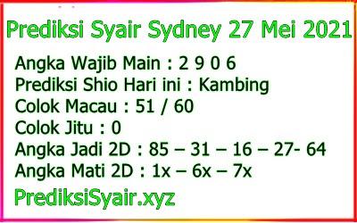 Syair sydney omiframe 27 mei 2021