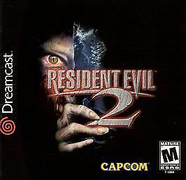 Resident Evil 2 Sega Dreamcast horror game cover art