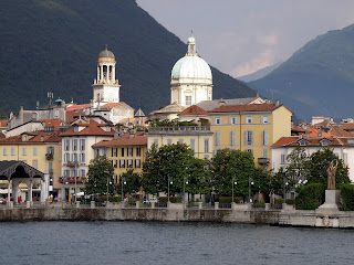 Verbania is a large town on the shore of Lake Maggiore