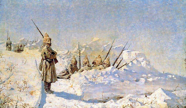 Василий Васильевич Верещагин - Снежные траншеи (Русские позиции на Шипкинском перевале). 1878-1881