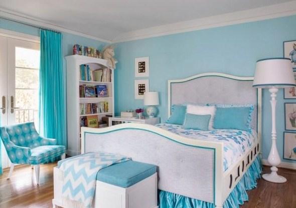 55 Dekorasi Kamar Tidur Sederhana Warna Cat Biru (Minimalis, Klasik, Dan Modern)