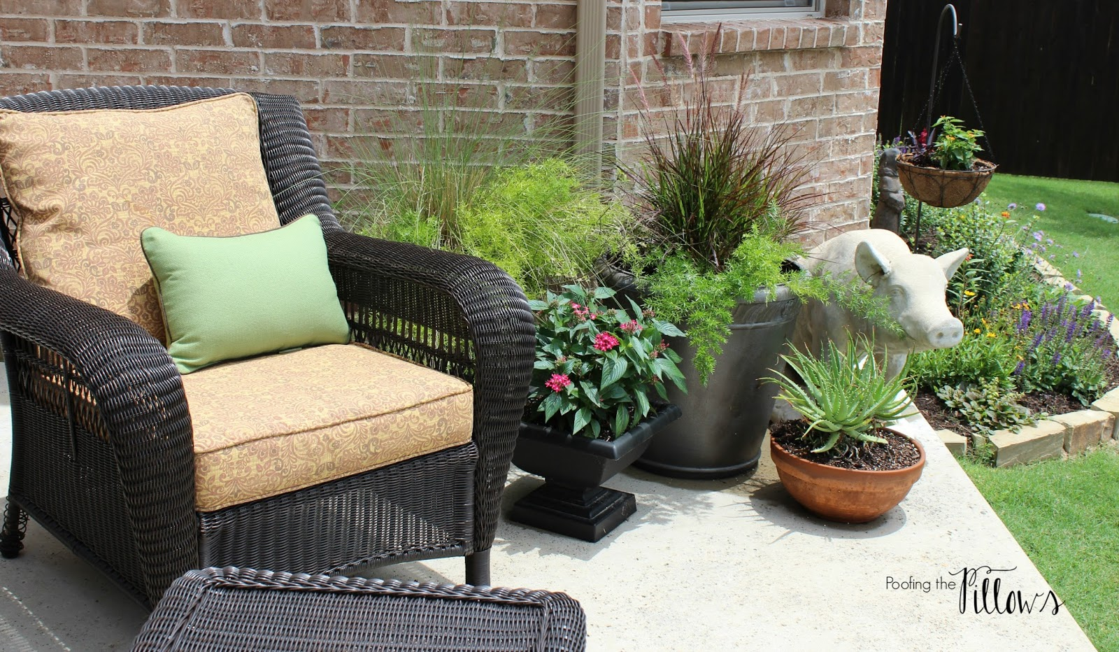 poofing the pillows when a patio becomes an extension of