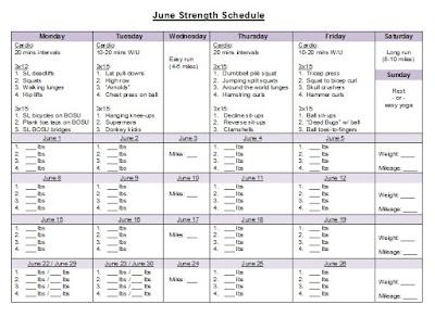 jen's best life premarathon strength training week 1