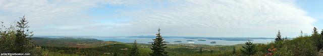 Vista Panorámica desde Cadillac Mountain en el Parque Nacional Acadia en Maine